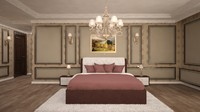 3d model bedroom design scene