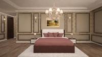 3d model bedroom design scene