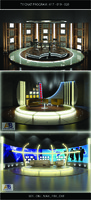 3ds max tv chat program studio set