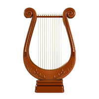 antique lyre obj