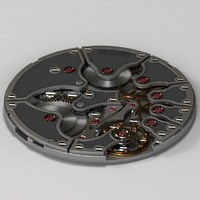 3d watch movement model