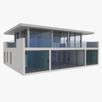 modernist house nine with interior textured