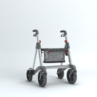 3d walker rollator cartoon
