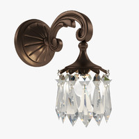 3d crystal sconce