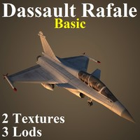 3d dassault rafale basic fighter aircraft
