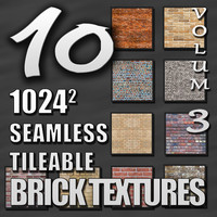 10 Seamless Tileable Brick Texture Pack Volume III