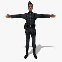 3d model soldier german man