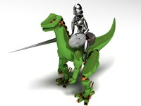 knight dinosaur