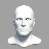obj human male head