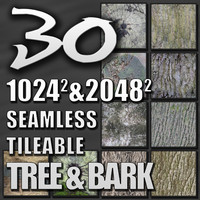 30 Tree Bark Texture Pack Seamless Tileable