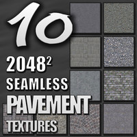 10 Seamless Tileable Pavement Texture Pack
