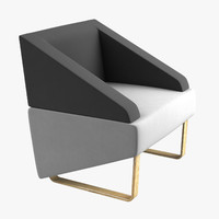3d max chair armchair modelled