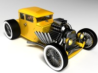 3d luxurious hot rod