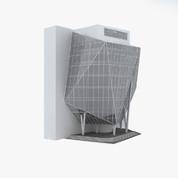 modern office building 3d model