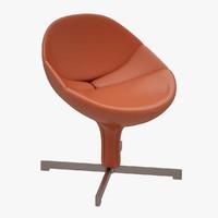 armchair chair zanotta 3d max