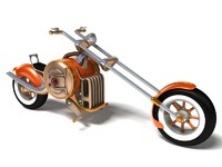 3d model steampunk bike steam