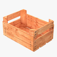 wooden fruit crate 3d max