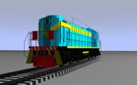 locomotive tem2 cargo 3d model