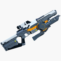 3d max fantastic launcher sci-fi rifle