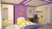 interior design bedrooms 3d model