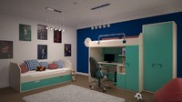 interior design bedrooms 3d fbx
