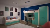 interior design bedrooms 3d fbx