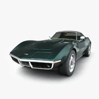 chevrolet corvette 1969 3d model
