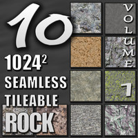 10 Seamless Tileable Rock Wall Floor Texture Pack