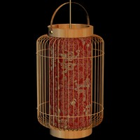 3d lighting lantern chinese model