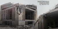 destroyed building 3d c4d