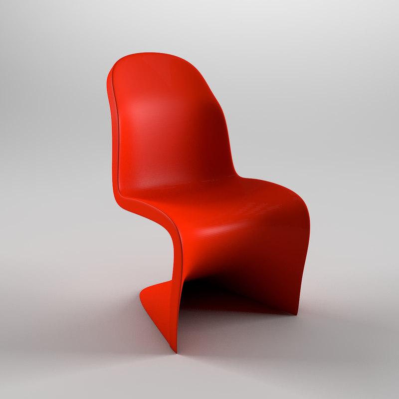 3d model panton chair. Black Bedroom Furniture Sets. Home Design Ideas
