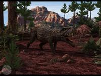 3dsmax postosuchus reptiles dinosaurs