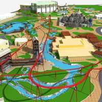 3d amusement park model
