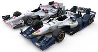 3d indycar honda aero kit model