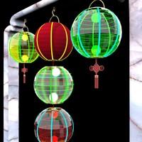 3dsmax chinese red lantern