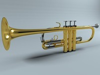 3d trumpet weril modeled model