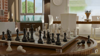 chess set board polys max