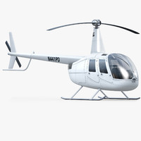 3d robinson r-44 helicopter