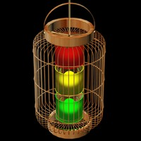 3d model cage lantern chinese