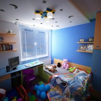 3ds max apartment interior kidroom