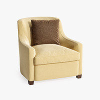 3d upholstered tub chair