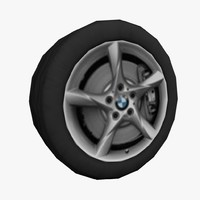 3d model vehicle wheel