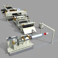 cutting line equipment 3d model