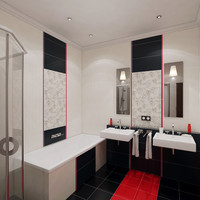 bath bathroom interior 3d obj