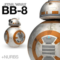 BB-8 droid Star Wars + NURBS