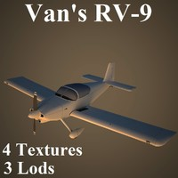 3d van aircraft low-poly