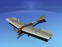 obj antoinette monoplane plane