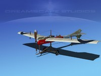 3d antoinette monoplane plane