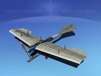 3ds max antoinette monoplane plane
