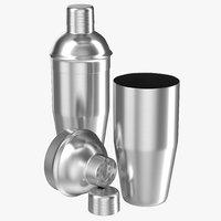 c4d cocktail shaker